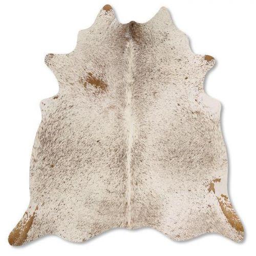Pele em formato natural - Chapiscado Bege e Branco