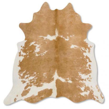 Pele em formato natural - Malhado Bege e Branco