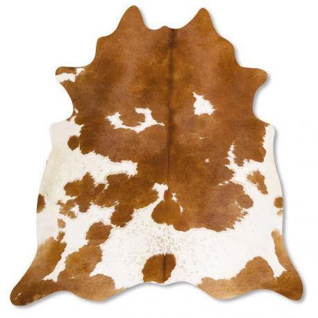 Pele em formato natural - Malhado Caramelo e Branco