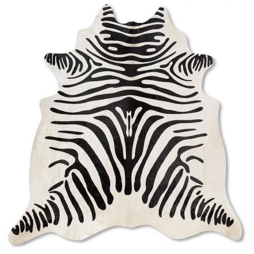 Pele em formato natural - Serigrafia Zebra Borda Branca