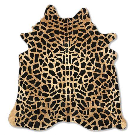 Pele em formato natural - Serigrafia Leopardo